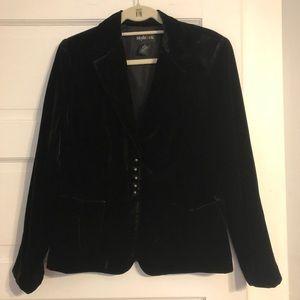 Style & Co. Black Velvet Dressy Jacket - Size 10